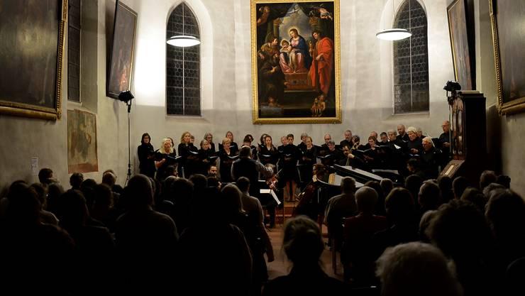 Auch Ennio Morricone durfte nicht fehlen: «Akusma» suchten bei ihrem Konzert in der Sebastianskapelle in Baden das Sakrale in der Filmmusik.