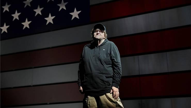 «Orange ist Trumps Kriegsbemalung»: Filmemacher Michael Moore ist einer der grössten Kritiker des US-Präsidenten. Moore will eine politische Revolution.