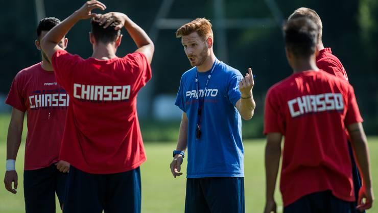 Der junge Trainer von Chiasso: Der 28-jährige Guillermo Abascal Perez stiess diesen Sommer aus dem Nachwuchs von Sevilla zu den Tessinern.