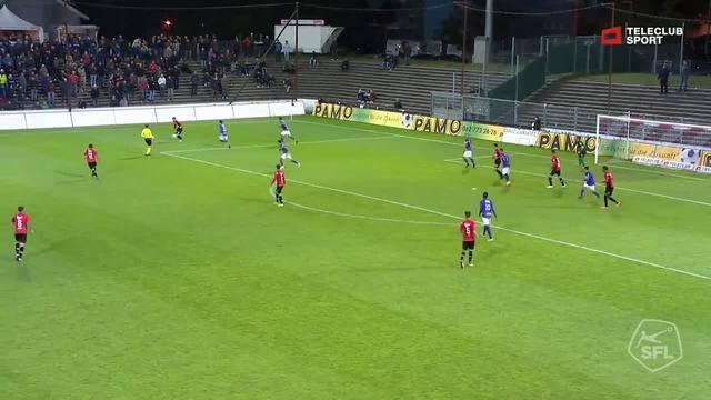 Highlight FC Aarau - FC Schaffhausen: 70. Elsad Zverotic Lattenschuss