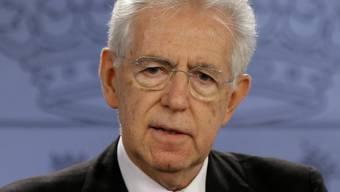Sorgte mit seiner Rücktrittsankündigung für Verunsicherung: Italiens Premier Mario Monti. (Archiv)