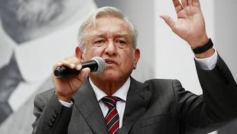 """""""Ohne Hilfe von Heer und Marine können wir das Sicherheitsproblem nicht lösen"""": Mexikos künftiger Präsident Andres Manuel Lopez Obrador."""
