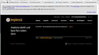 Hackerangriff auf Implenia-Website