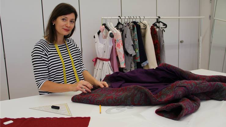 Anna Aviolat in ihrem Atelier in Aarau.