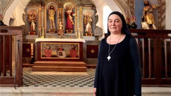 Schwester Benedikta als Einsiedlerin in der Klause St.Verena
