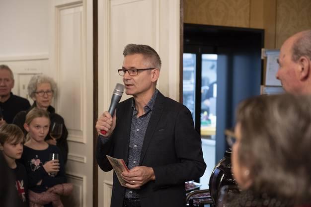Gemeindeammann Pius Graf hält seine Neujahrsansprache...