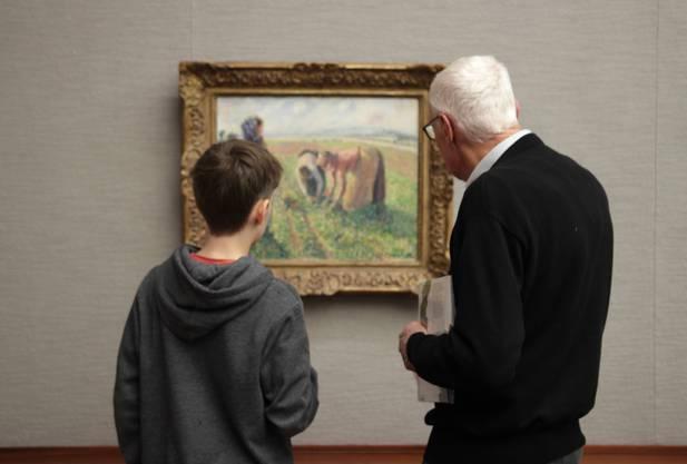 Hier wird Kunstbetrachtung weitergegeben Die Erbsenrente von Camille Pissarro