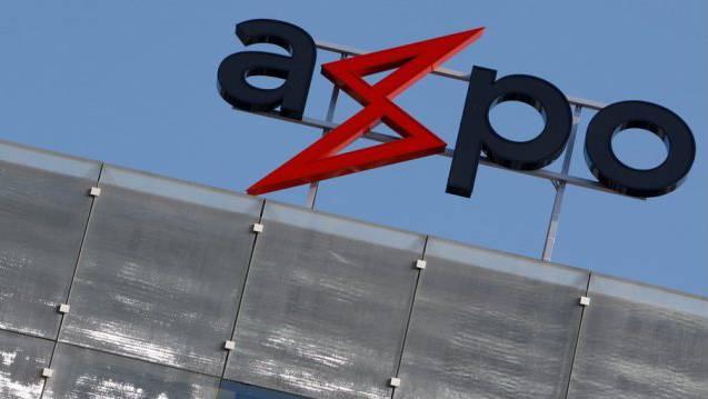 Das Logo der Axpo in Baden (Archiv)