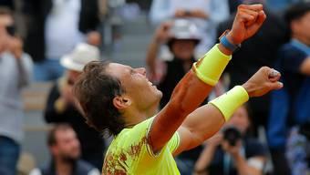 Schlägt der Goliath auf Sand wieder zu: Rafael Nadal siegte im vergangenen Jahr zum zwölften Mal an den French Open.