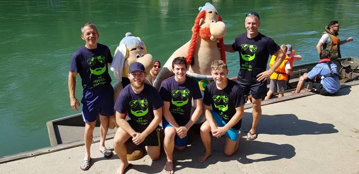STV Erlinsbach am Schlauchbootrennen 2019 in Schönenwerd (SIEGER)