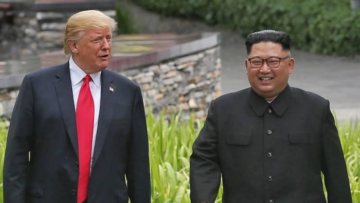 US-Präsident Donald Trump und der Diktator Nordkoreas Kim Jong-Un wollen Ende Februar nach einem Treffen in Singapur nunmehr in Vietnam zusammenkommen. (Archivbild)