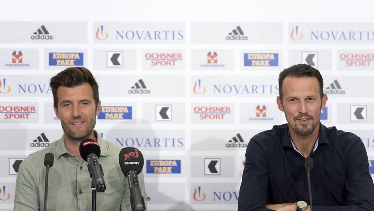 Raphael Wicky (r.) wird im Sommer das Traineramt von Urs Fischer übernehmen.