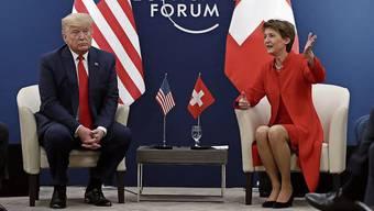 Kamen auf keinen gemeinsamen Nenner: US-Präsident Trump und Bundespräsidentin Sommaruga.