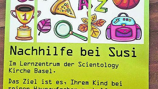 Mit diesem Flyer wirbt die Scientology um Nachhilfeschüler.
