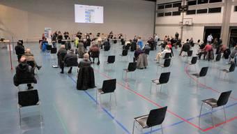Gemeindeversammlung Zuchwil in der Sporthalle des Sportzentrums.