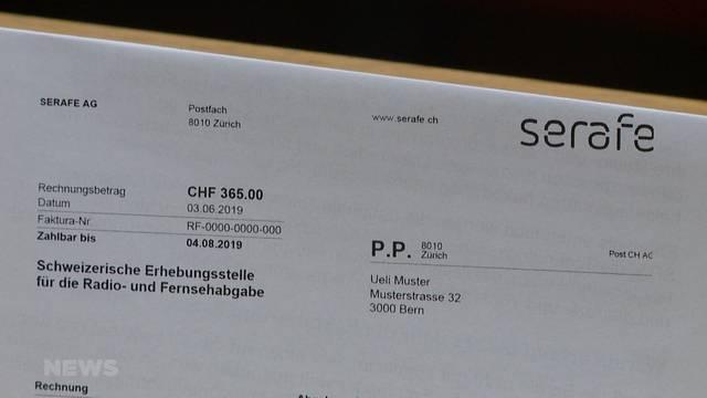 Serafe statt Billag: Neuerdings zwei Rechnungen