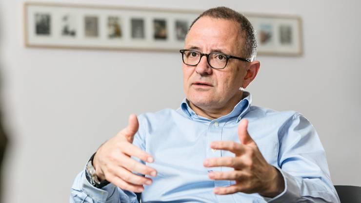 «Auch eine  Fusion nur  mit Unterentfelden ist  sinnvoll.», Hanspeter Hilfiker  Stadtpräsident Aarau