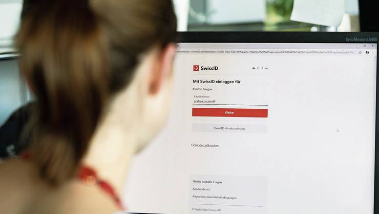 Auf der Plattform des Kantons Aargau kann man sich neuerdings mit der SwissID einloggen – und damit bald kantonale Dienstleitungen beziehen.