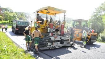 Bauarbeiten auf der Staffelegg