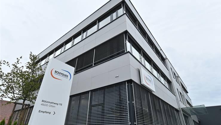 Der Oltner Sitz der Gebäudetechnikfirma Bouygues E&S InTec AG - früher Alpiq Intec AG.