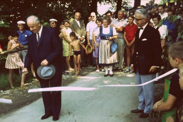 Offizielle Einweihungsfeier des FamilienGarten-Vereins war am  14. Juni 1969.
