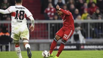 Serge Gnabry zieht ab und erzielt für Bayern München das vorentscheidende 2:1