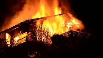 Brand eines Einfamilienhauses in Füllinsdorf
