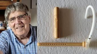 Dieter Strub und sein Ventil, das für Menschen mit Hydrocephalus (Wasserkopf) eine wichtige Verbesserung brachte.