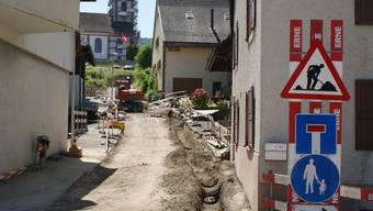 Bauarbeiten in der Kirchgasse bringen kurzzeitig Behinderungen. ach