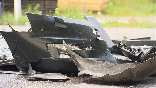 Schwerverletzte bei Frontalkollision in Illnau