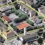 Blick auf das Kasernenareal Aarau.