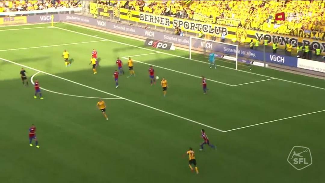 YB- FCB, 59. Minute: Tor für BSC Young Boys von Jean-Pierre Nsame (Assist: Saidy Janko)