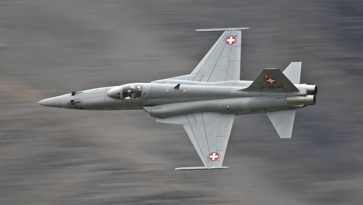 Ein Kampfjet des Typs Tiger-F-5E. (Archiv)