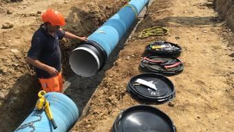Die alten und die neuen Wasserleitungen sind aus Eternit.