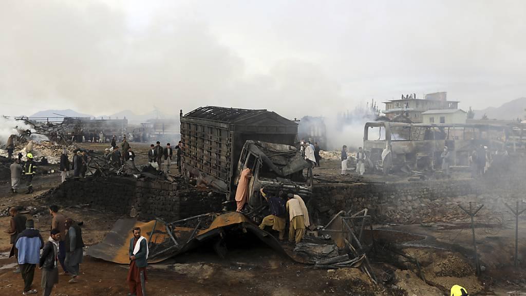 Mindestens sieben Tote nach massivem Feuer im Norden Kabuls