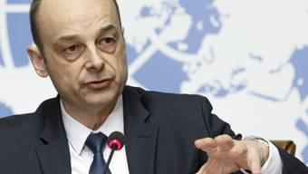 Manuel Fontaine, UNICEF-Direktor für Nothilfeprogramme, am Dienstag am UNO-Sitz in Genf.