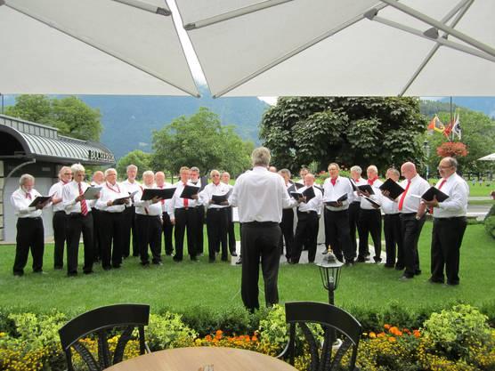 Männerchor Dietikon, Auftritt im Hotel Viktoria Jungfrau in Interlaken