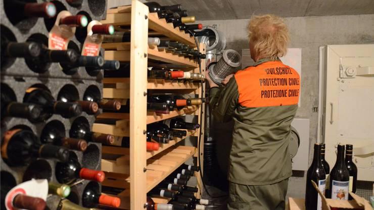 Keine Weinkeller, aber Holzpelletslager – die Grünen sehen in den Schutzräumen Umnutzungspotenzial.