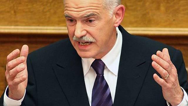 Griechischer Regierungschef Papandreou