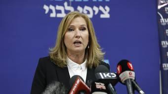 Die frühere israelische Aussenministerin Zipi Livini hat ihren Abschied aus der Politik verkündet.