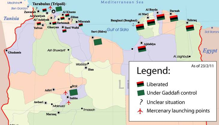 Situation in Libyen