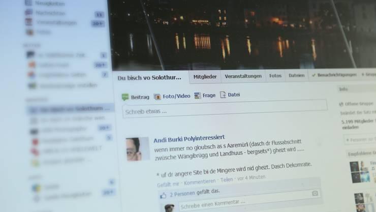 Der Sinn der Facebook-Gruppe «Du bisch vo Solothurn wenn ...» besteht darin, dass die Mitglieder Beiträge verfassen, in denen sie den begonnenen Satz vervollständigen.