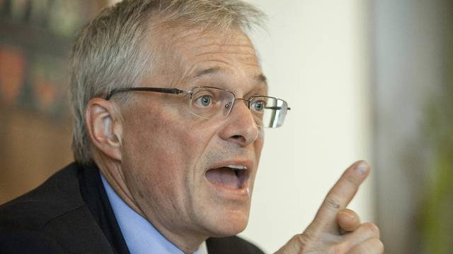 Thomas Minder überzeugte in Gossau die Mehrheit der SVP-Delegierten (Archiv)