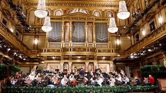 Damit Glanz und Gloria sitzen: Christian Thielemann probt mit den Wiener Philharmonikern das Neujahrskonzert 2019.