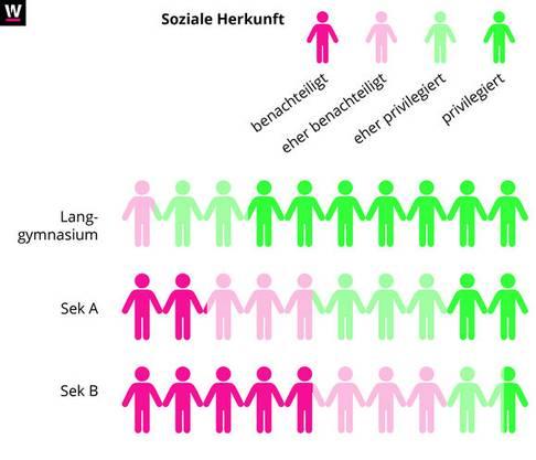Forscher der Universität Zürich haben die soziale Herkunft der Schüler in verschiedenen Schultypen untersucht.