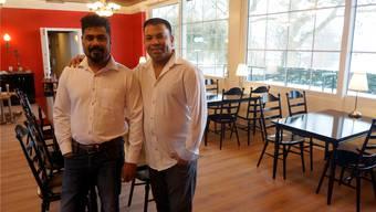 Rajah (links) und Vive wollen das Restaurant «Zum grüene Aff» zum beliebten Ausflugsziel machen.