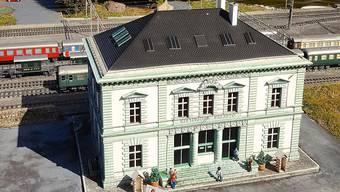 Das Palazzo Liestal im Miniformat: Swissminiatur, Melide.