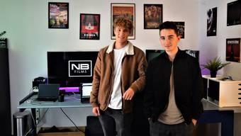 Nicholas Beyeler und Niklas Burn wollen mit ihrem Filmprojekt Kinosäle erobern.