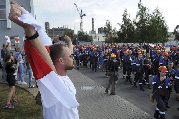 Mitte August streikten die weissrussischen Arbeiter auch in der Stadt Grodno.