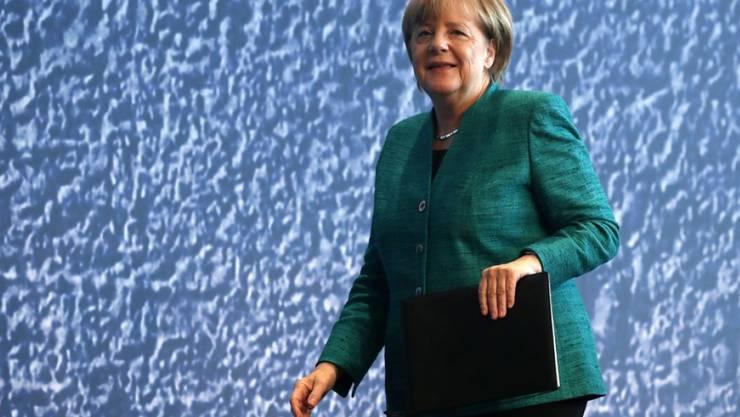 Die deutsche Bundeskanzlerin Angela Merkel misst dem Lesen eine ähnlich grosse Bedeutung wie den Lebensmitteln zu. (Archiv)
